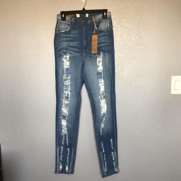 Fashion Nova Denim - NWT Fashion Nova Blue High Rise Skinny Jeans sz 13